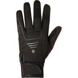 Warme ruiterhandschoenen voor volwassenen Perf zwart