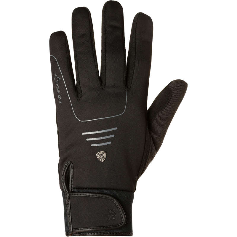 COLD WEATHER RIDING AD. GLOVES SOCKS - Perf Warm Gloves - Black FOUGANZA