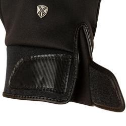 Guantes cálidos de equitación adulto PERF negro