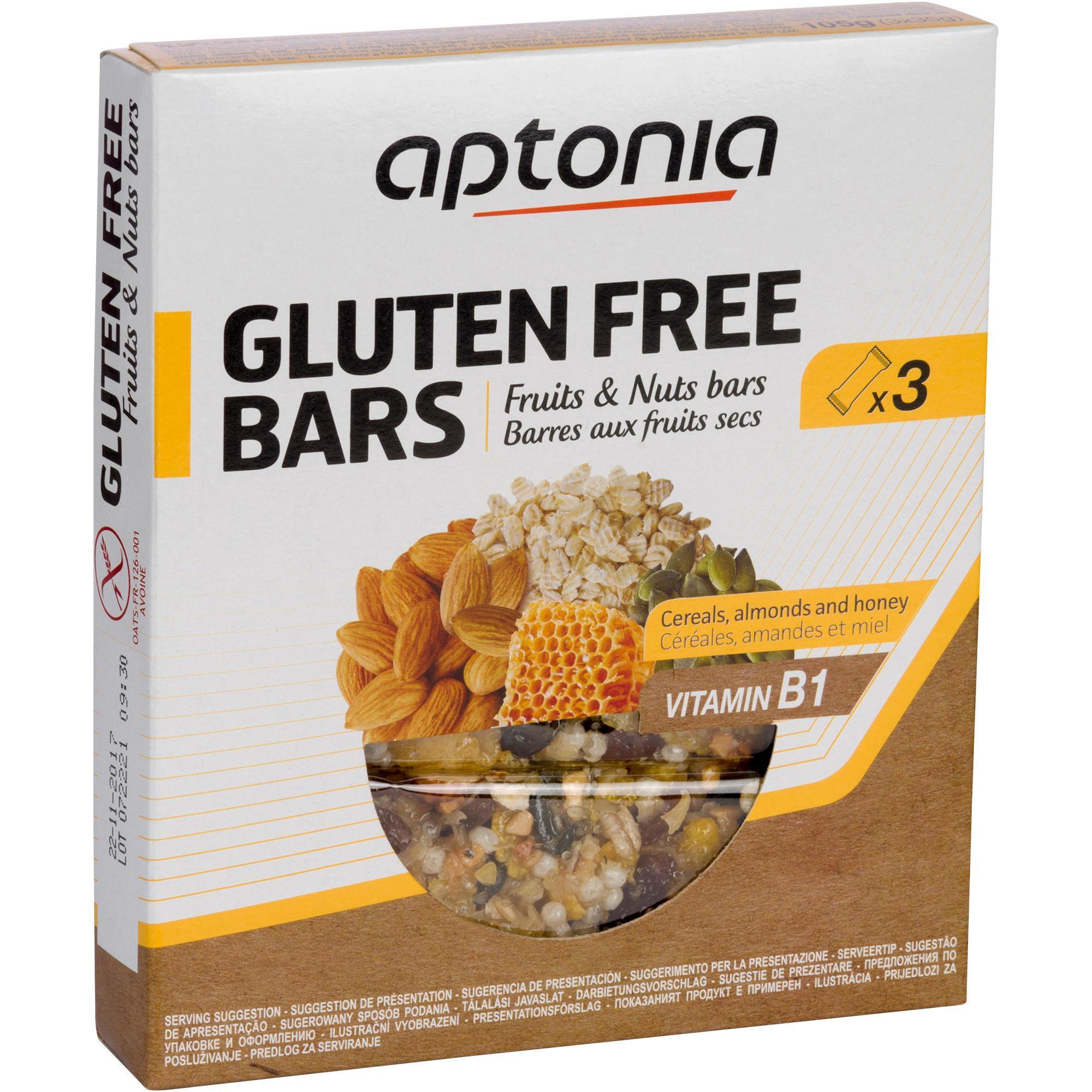 Aptonia Glutenvrije graanrepen fruit & nuts 3x35 g