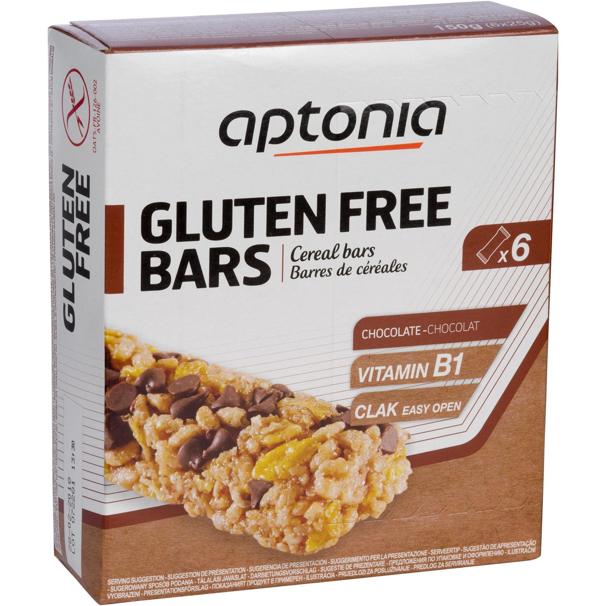 Aptonia Glutenvrije graanrepen chocolade 6 x 25 g