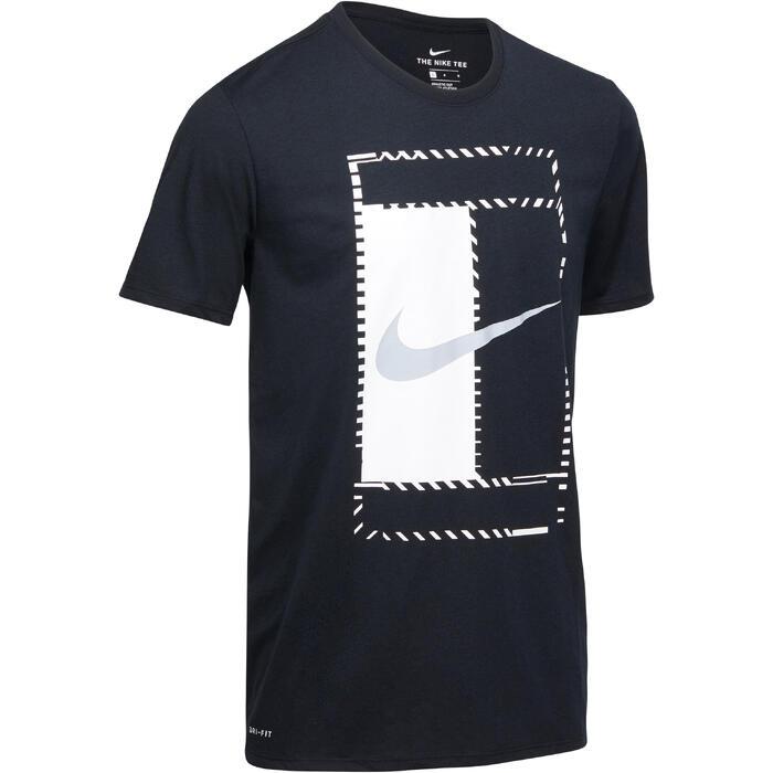 T-Shirt Dry Tee Tennis Herren grau