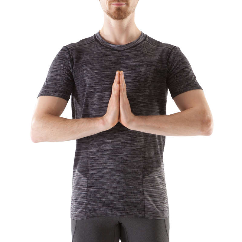 MAN YOGA APPAREL Clothing - Seamless Yoga T-Shirt DOMYOS - By Sport