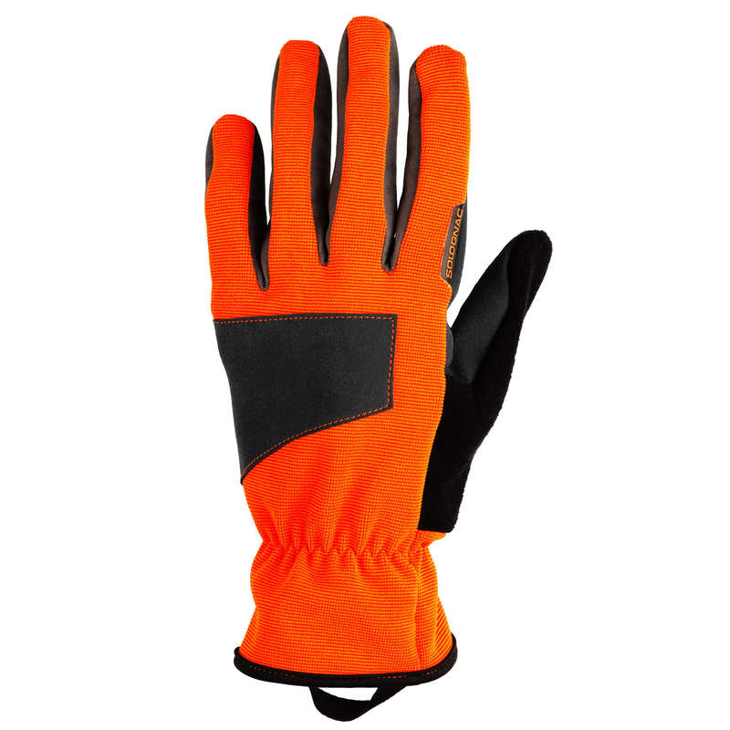 HIGH VIS ACCESSORIES Shooting and Hunting - SUPERTRACK 100 V2 GLOVE ORANGE SOLOGNAC - Hunting and Shooting Clothing