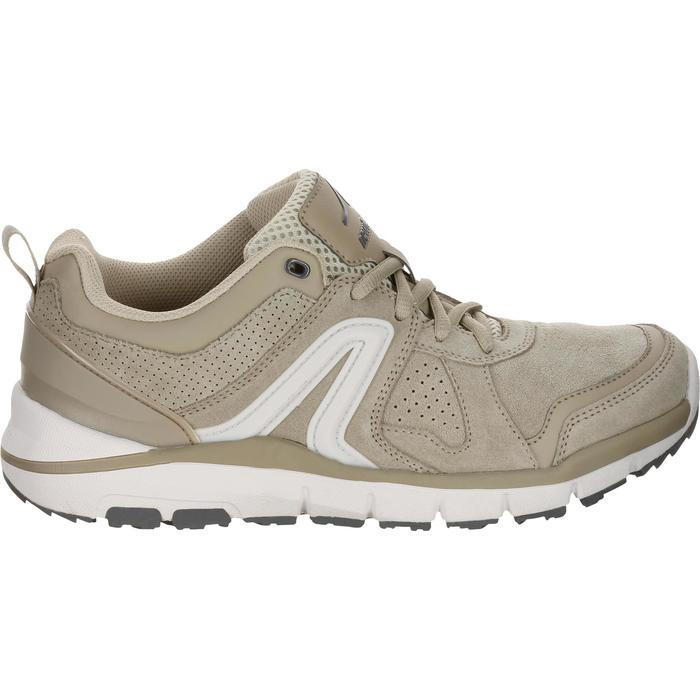 Damessneakers voor sportief wandelen HW 540 leer beige