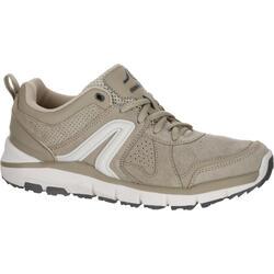 Zapatillas de marcha deportiva para mujer HW 540 piel beige