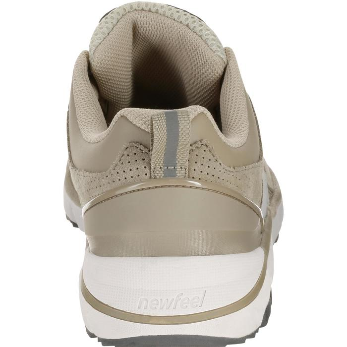Leren damessneakers voor sportief wandelen HW 540 beige
