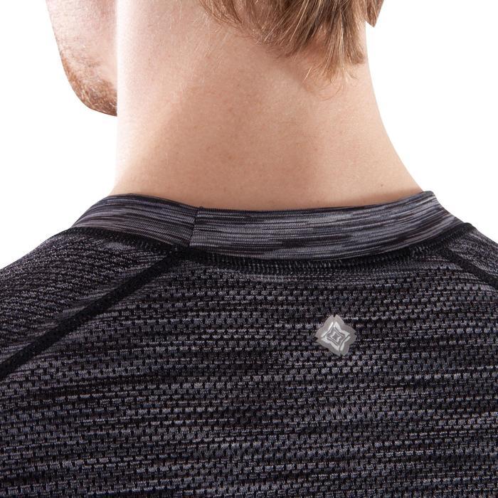 T-Shirt Yoga nahtlos Herren schwarz grau