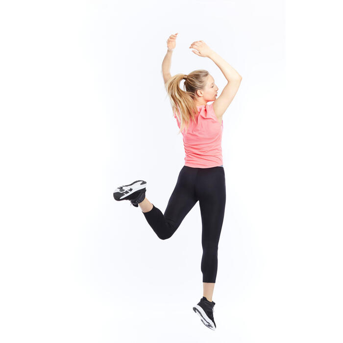 T-shirt loose fitness cardio femme avec imprimés 120 Domyos - 1197759