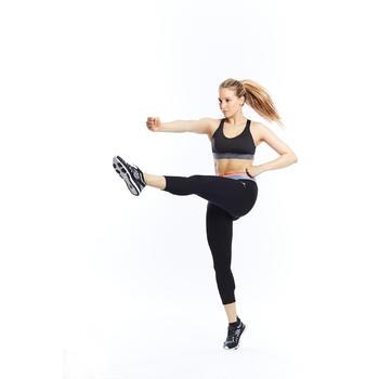 7/8 Leggings FLE 100 Fitness Cardio Damen schwarz