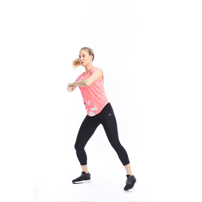 T-shirt loose fitness cardio femme Energy - 1197782