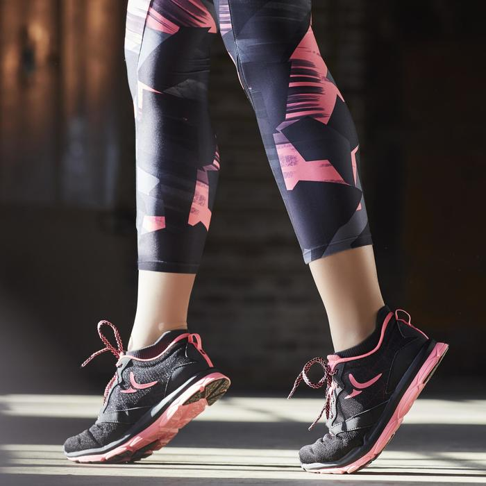 Legging fitness cardio femme imprimé rose et Energy + - 1197785