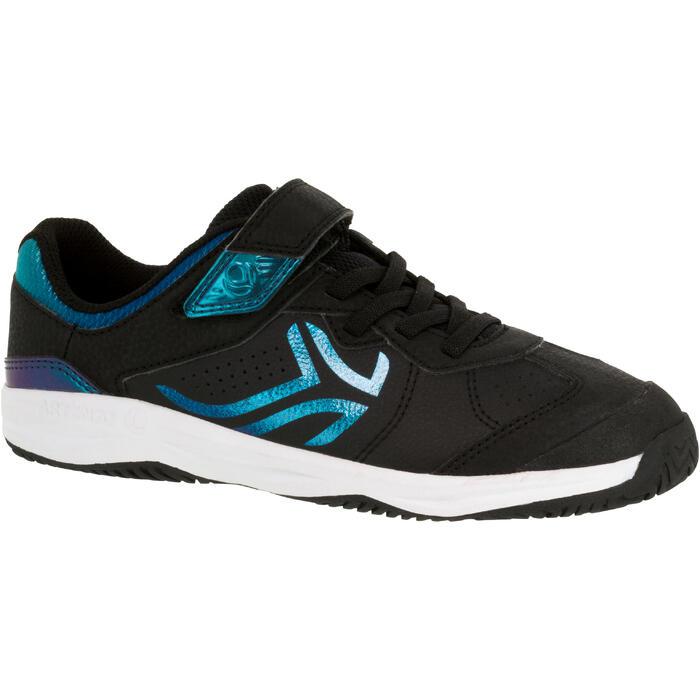 兒童款網球鞋TS160-甲蟲黑