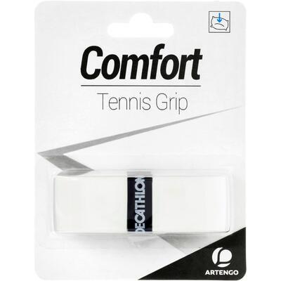 רצועת גריפ Comfort לידיות מחבט טניס - לבן