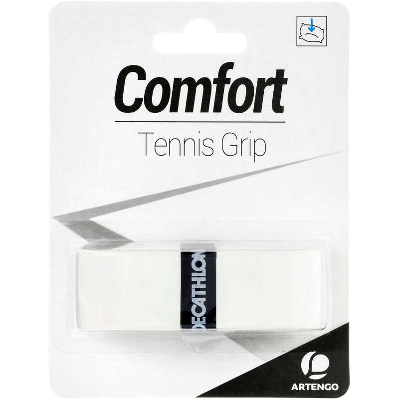 ACCESSORI RACCHETTE TENNIS Sport di racchetta - Grip tennis COMFORT bianco ARTENGO - Attrezzatura tennis