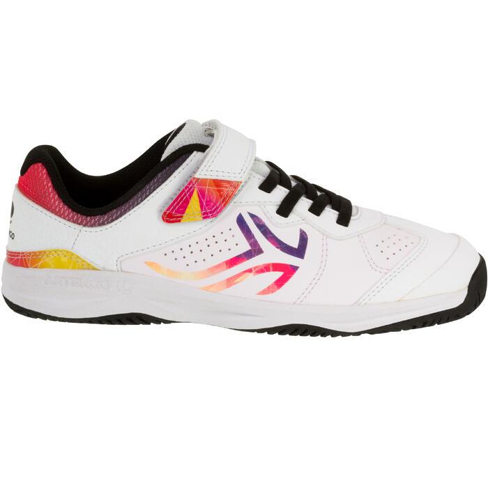 Tennisschoenen voor kinderen Artengo TS160 wit logo multicolor