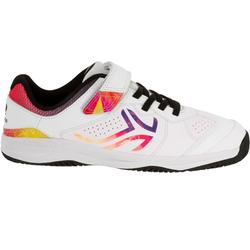 ZAPATILLAS JÚNIOR TENIS ARTENGO TS160 BLANCO LOGO MULTICOLOR