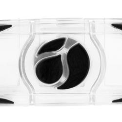 Transparante trillingsdemper voor tennis