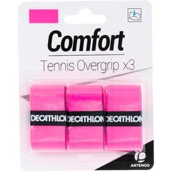 舒適網球運動握把布 (3入裝) - 粉紅
