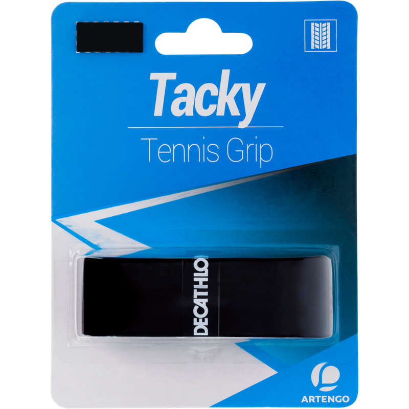 RACKETS ACCESSORIES Tennis - Tacky Tennis Grip - Black ARTENGO - Tennis Accessories