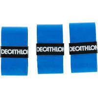 אריזה של שלוש רצועות אוברגריפ סופגות לידית מחבט טניס - כחול