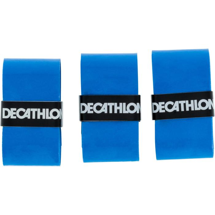 Griffband Absorb Tennisschläger Overgrip 3er-Pack blau