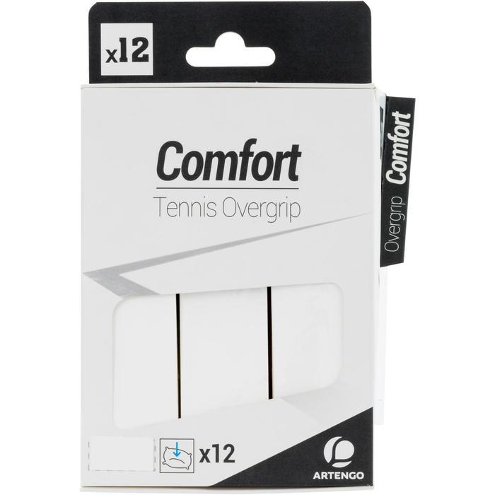 Overgrip Comfort voor tennis wit set van 12