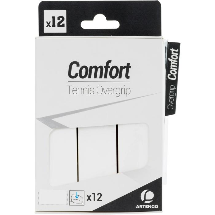 SURGRIP DE TENNIS CONFORT BLANC LOT DE 12