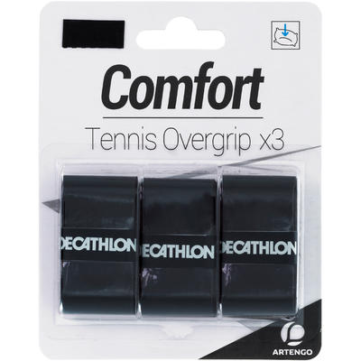 אריזת שלוש רצועות אוברגריפ Comfort לידיות מחבט טניס - שחור