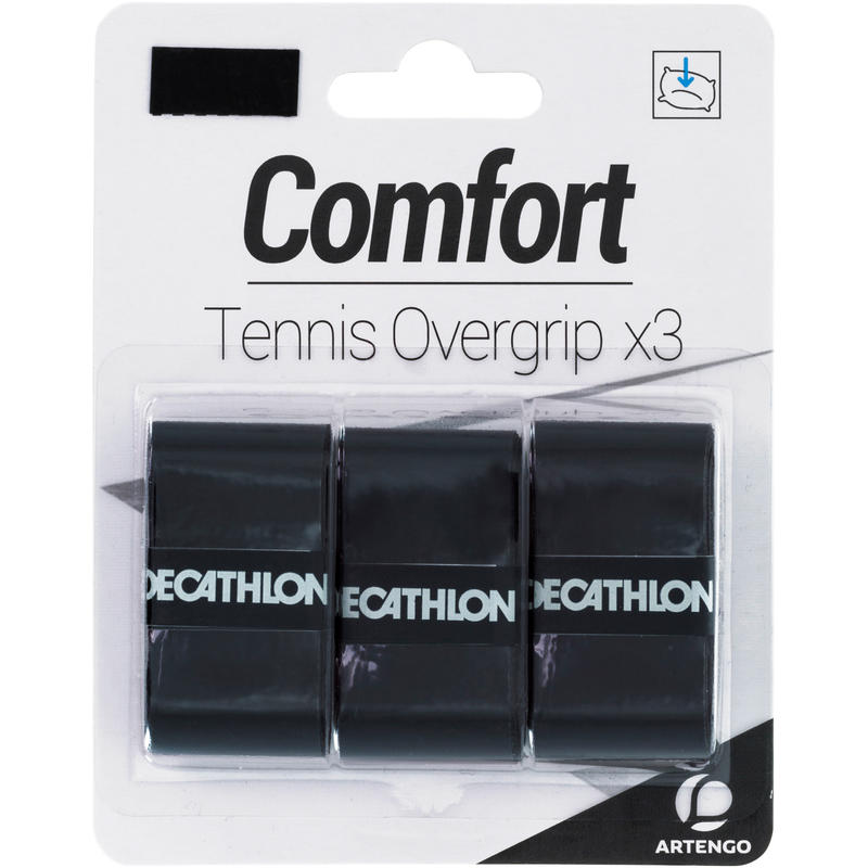 Comfort Tennis Overgrip Tri-Pack - Black