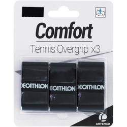 3入網球舒適外層握把布-黑色