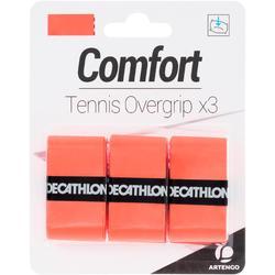 Griffband Overgrip Komfort für Tennisschläger 3er-Pack orange
