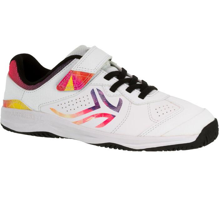 Tennisschoenen voor kinderen Artengo TS160 wit logo veelkleurig