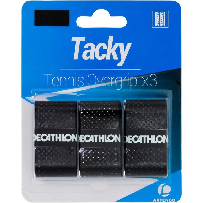 Griffband Overgrip Tacky Tennisschläger 3er Pack schwarz