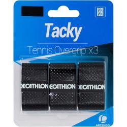 Griffband Overgrip Tacky für Tennisschläger 3er-Pack schwarz