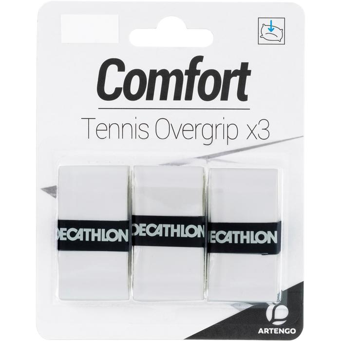 Griffband Komfort Tennisschläger Overgrip 3er-Pack weiß