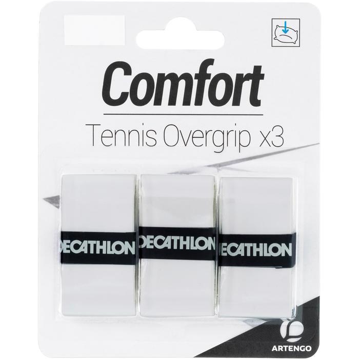Griffband Overgrip Komfort für Tennisschläger 3er-Pack weiß