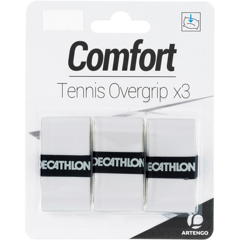 โอเวอร์กริปเทนนิสรุ่น Comfort แพ็ค 3 ชิ้น (สีขาว)