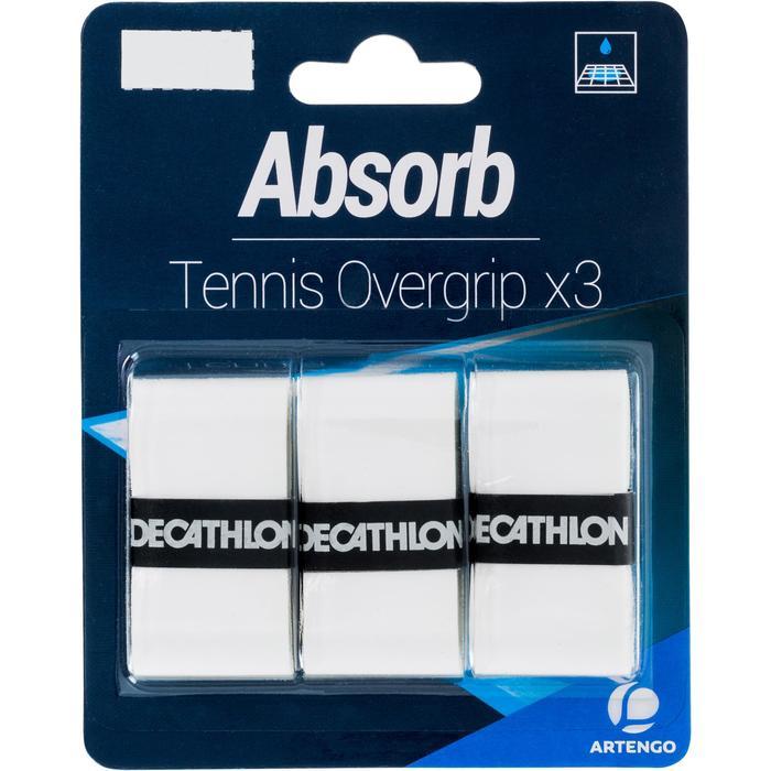 Absorberende overgrip voor tennis wit