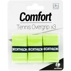 SURGRIP DE TENNIS CONFORT JAUNE LOT DE 3
