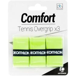 舒適網球運動握把布 (3入裝) - 黃色