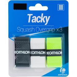 Overgrip voor squash Tacky wit/zwart/geel