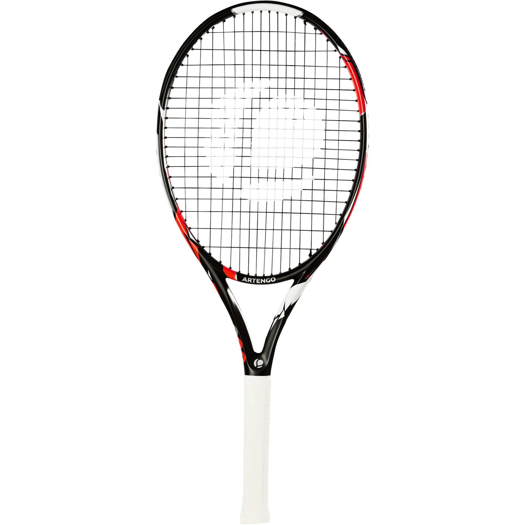Raquette de tennis enfant tr990 26 noir orange artengo - Raquette de tennis de table decathlon ...