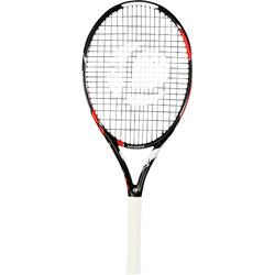 RAQUETTE DE TENNIS ENFANT TR990 26 NOIR ORANGE