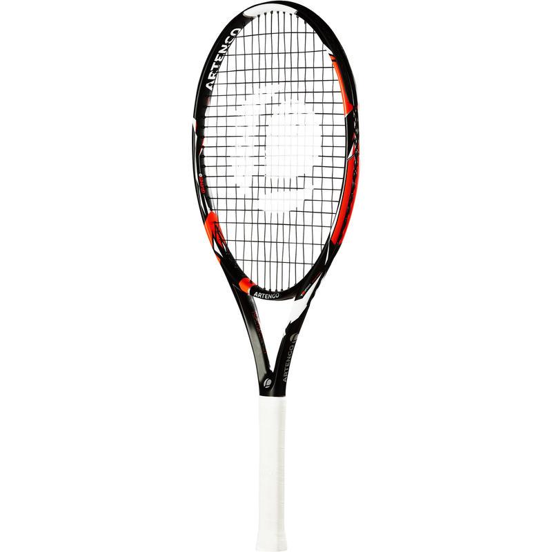 Raqueta de tenis para niños negro y naranja TR 990 JR talla 26 pulgadas