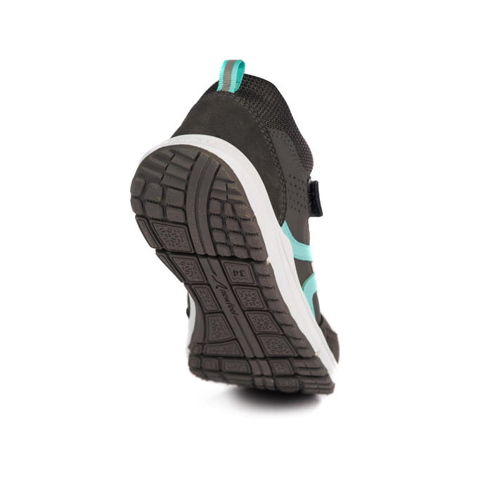 Zapatillas Caminar Newfeel Protect 560 Piel Niños Gris/Turquesa