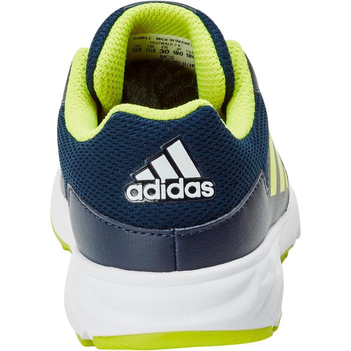 Chaussures marche sportive enfant Fastwalk2 Lacets bleu / jaune - 1198208