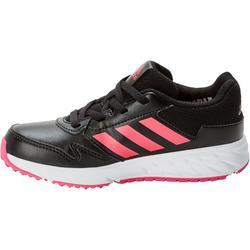 Zapatillas de marcha deportiva para niños Fastwalk2 con cordones negro / rosa