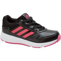 Chaussures marche sportive enfant Fastwalk2 Lacets noir / rose