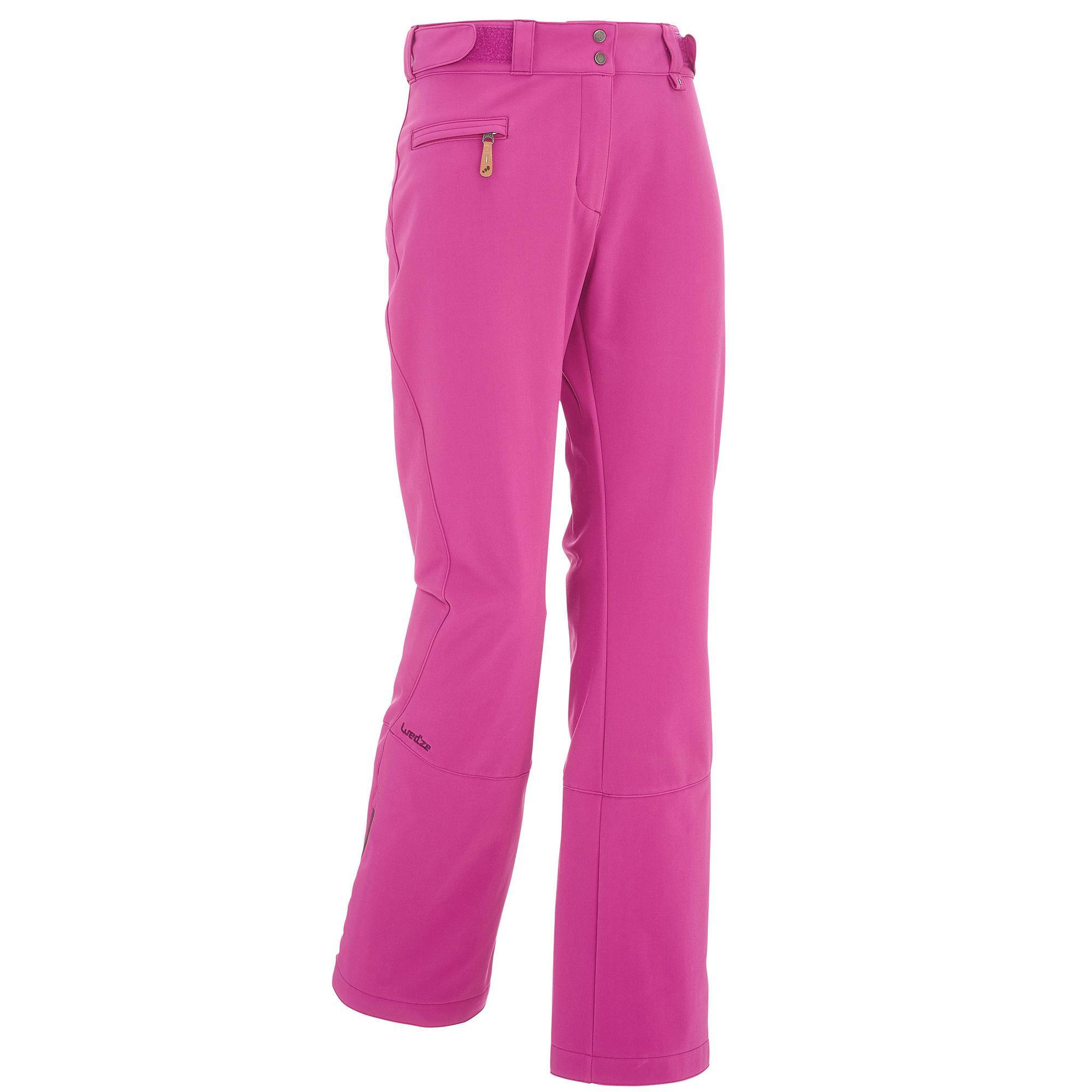 Pantalon ski femme slide 500 violet wedze
